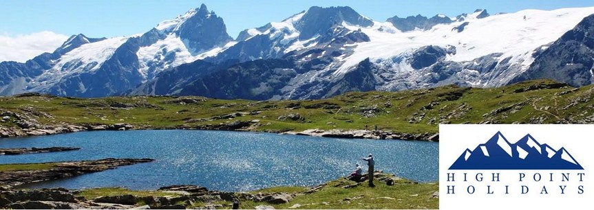 High Point Holidays alpine walking trail in Ecrins France
